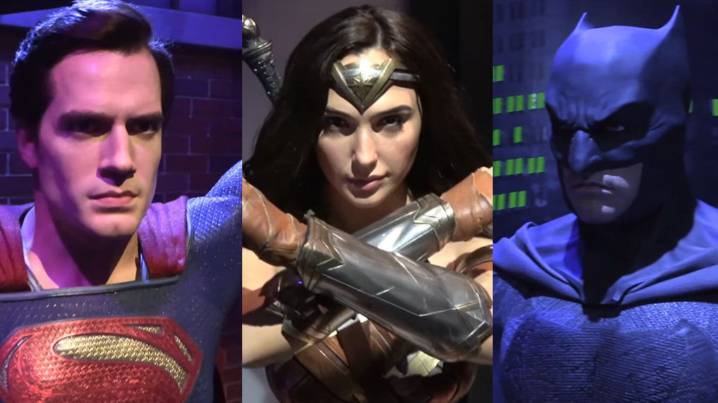 Superman, Batman y Wonder Woman se convirtieron en estatuas de cera en el museo Madam Tussauds.