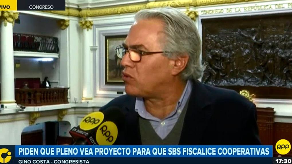 Gino Costa consideró que el proyecto de las cooperativas debería hoy mismo ser aprobado.