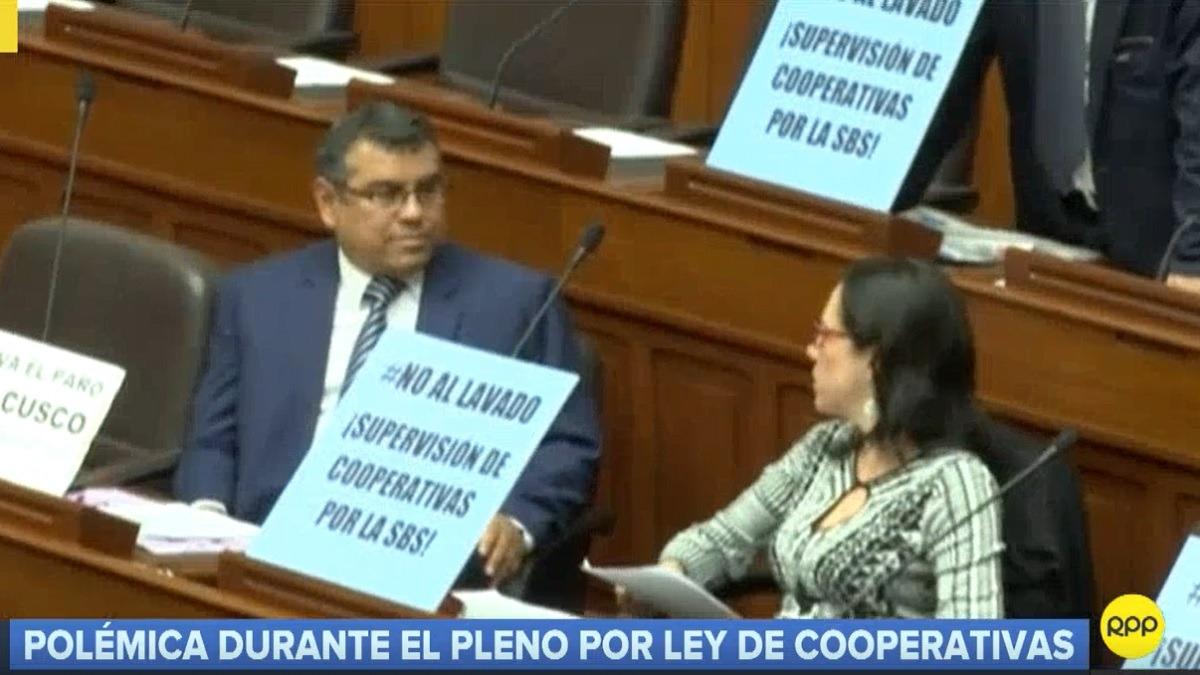 Parlamentarios reclamaron debatir el proyecto de ley sobre cooperativas.