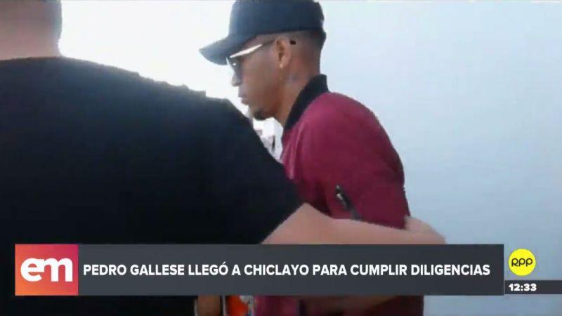 Pedro Gallese evitó dar declaraciones a la prensa a su arribo a Chiclayo.