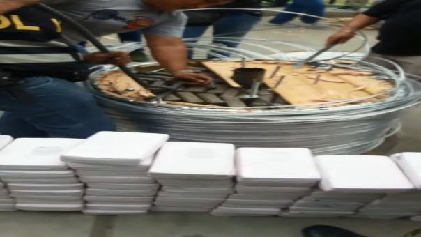 La fiscal antidrogas de Chiclayo, Elvira Rosa Aldana Tello dirigió el operativo en Zarumilla-Tumbes