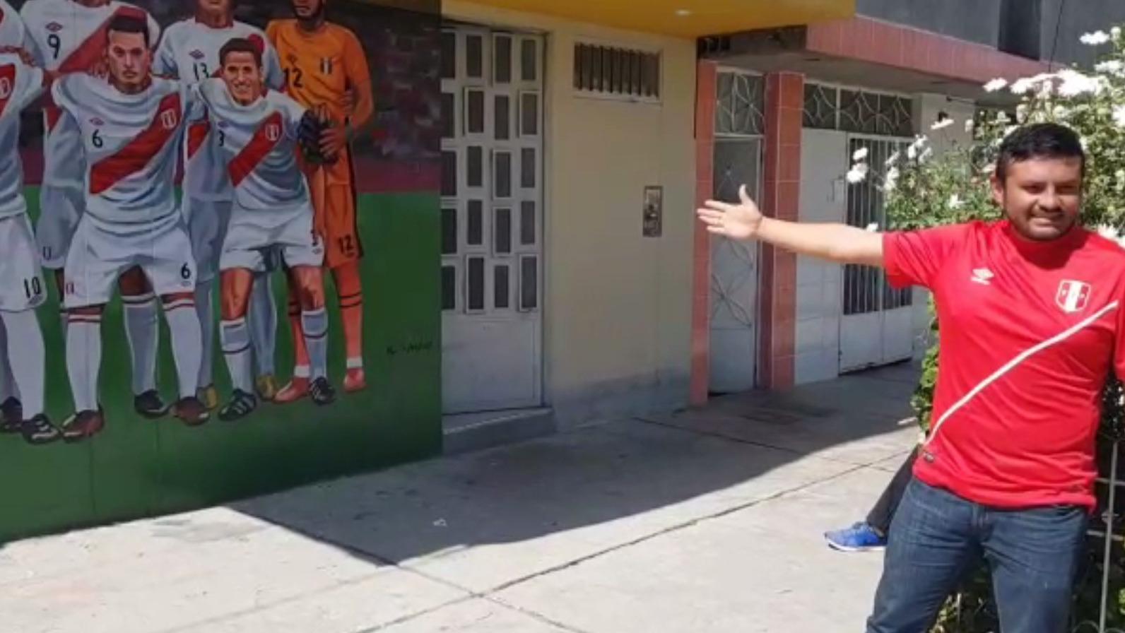 Pillpe Morales narró a RPP Noticias que el mural tardó cerca de 15 días en ser elaborado.