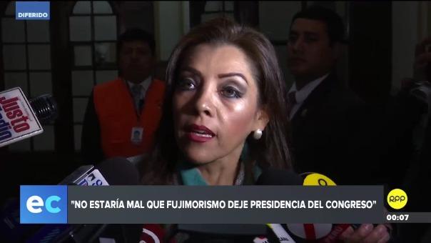 La congresista Alejandra Aramayo de Fuerza Popular comentó que