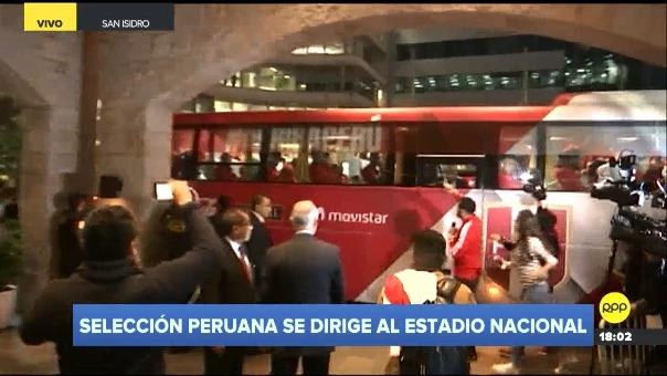 Así fue la salida de la Selección Peruana.
