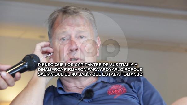 Åge Hareide brindó una entrevista exclusiva a RPP.