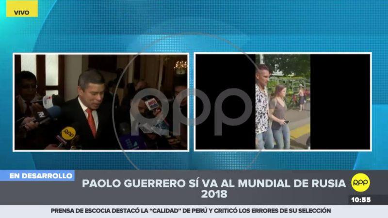 Los congresistas de distintas bancadas coincidieron en manifestar su satisfacción por el fallo favorable a Paolo Guerrero.
