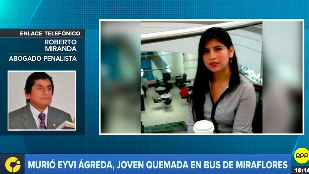 El abogado Roberto Miranda explicó en RPP la figura penal por la que podría ser procesado Carlos Hualpa.