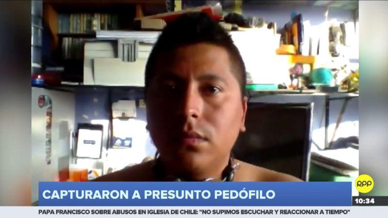 Renzo Giovanni Huaraz Lagos (28) es acusado de acosar sexualmente y realizar tocamientos indebidos a un adolescente de 13 años.