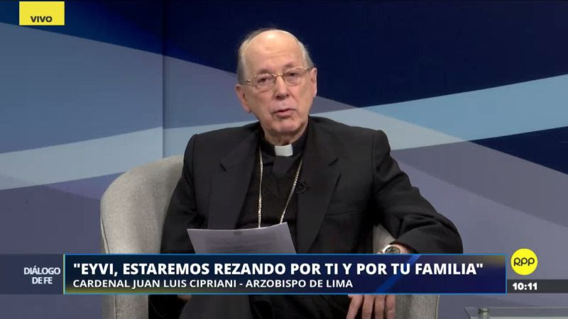 Juan Luis Cipriani lamentó la muerte de Eyvi Liset Ágreda.