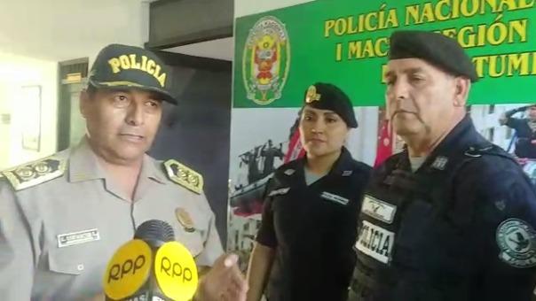 El general PNP César Cervantes felicitó el acto de honradez e integridad de sus dos subalternos