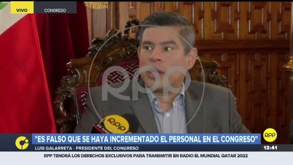 Luis Galarreta en el Congreso.