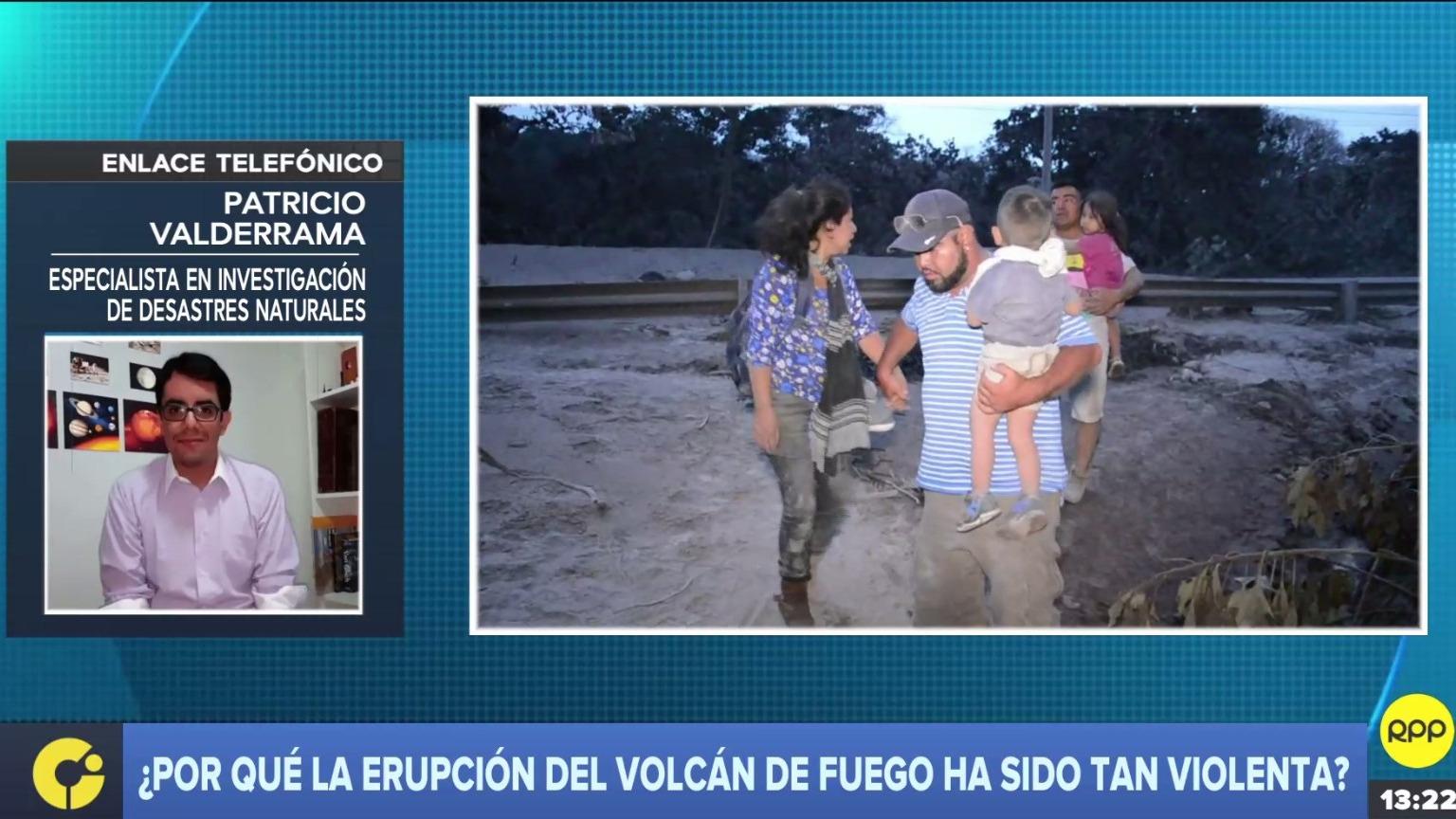 Patricio Valderrama explicó por qué la erupción del volcán de Fuego ha sido tan violenta.