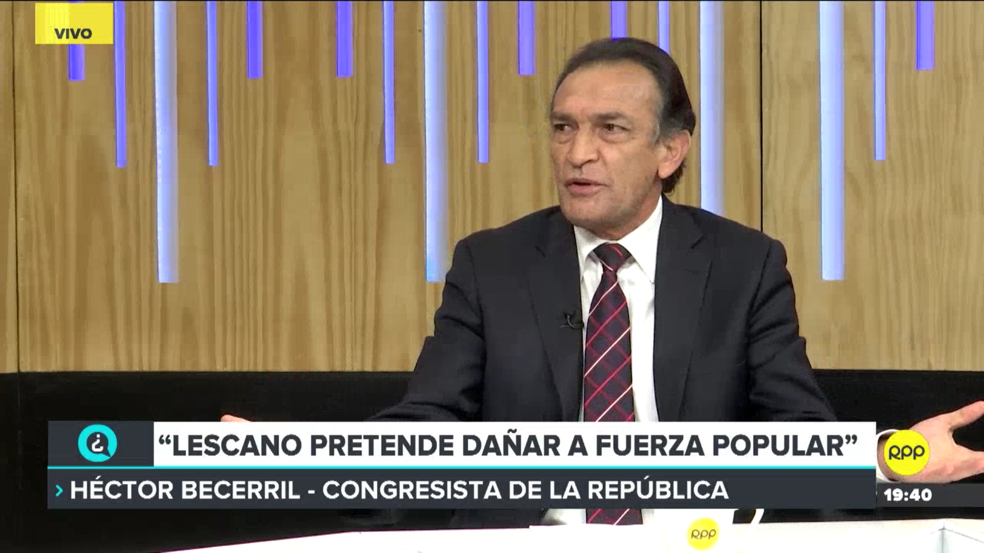 El parlamentario comentó que se debe desaforar a Fujimori, Ramírez y Bocángel para proteger al Estado.