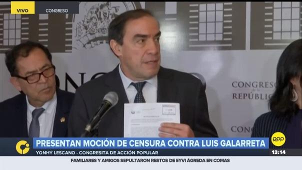 Presentan moción de censura contra Luis Galarreta