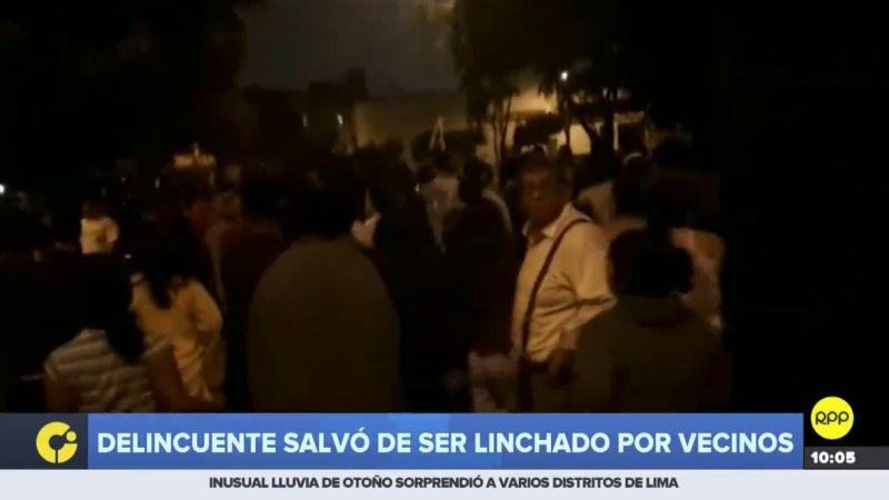 Los vecinos de San Martín de Porres están indignados por la ola de asaltos que ocurre en su distrito.