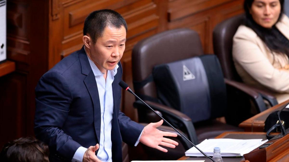 Kenji Fujimori se defendió ante el Pleno.