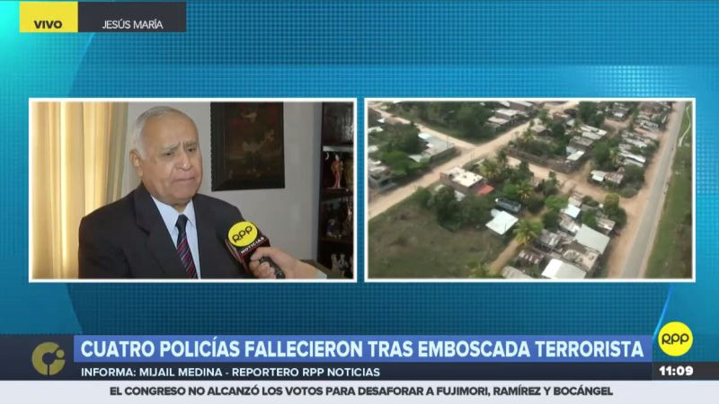 Remigio Hernani comentó el ataque narcoterrorista en diálogo con RPP Noticias.