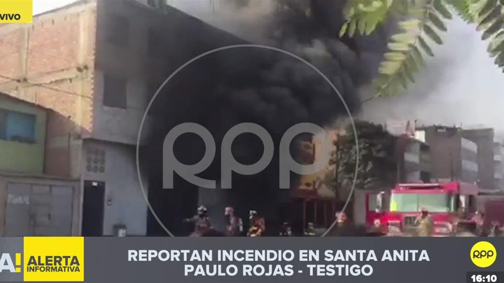 Reportan incendio en Santa Anita.