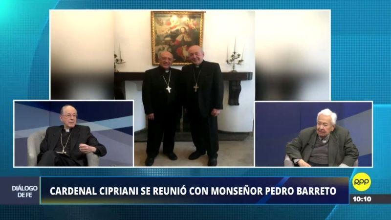 Juan Luis Cipriani habló sobre su reunión con Pedro Barreto en su programa Diálogo de Fe.