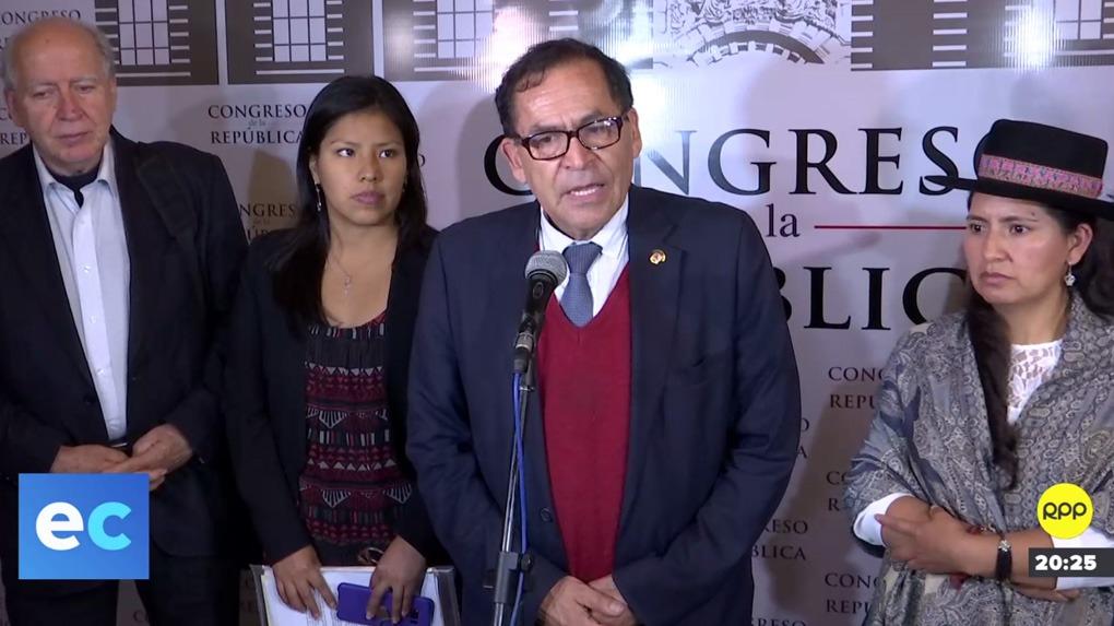 La bancada Nuevo Perú exige la renuncia del jefe se seguridad del Congreso.