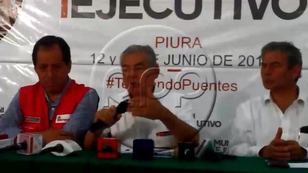 César Villanueva estuvo con el gabinete en Piura, este miércoles.