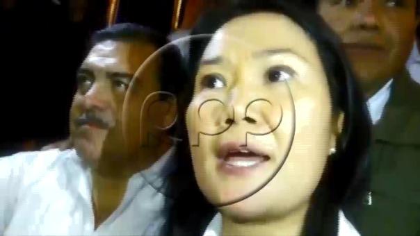 Keiko Fujimori dijo que el Congreso no se casa con la corrupción, durante su visita a Ica este miércoles.