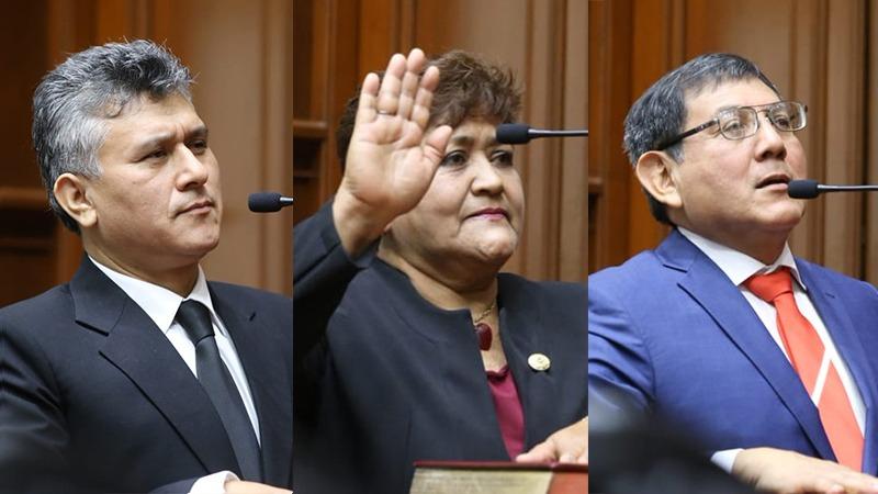 César Campos,  María Ramos y Ángel Neyra juraron en el Congreso y asumieron sus cargos
