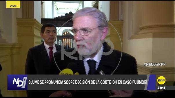 Ernesto Blume, presidente del Tribunal Constitucional.