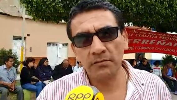 El dirigente también adelantó que el lunes realizarán una vigilia en la catedral de Chiclayo.