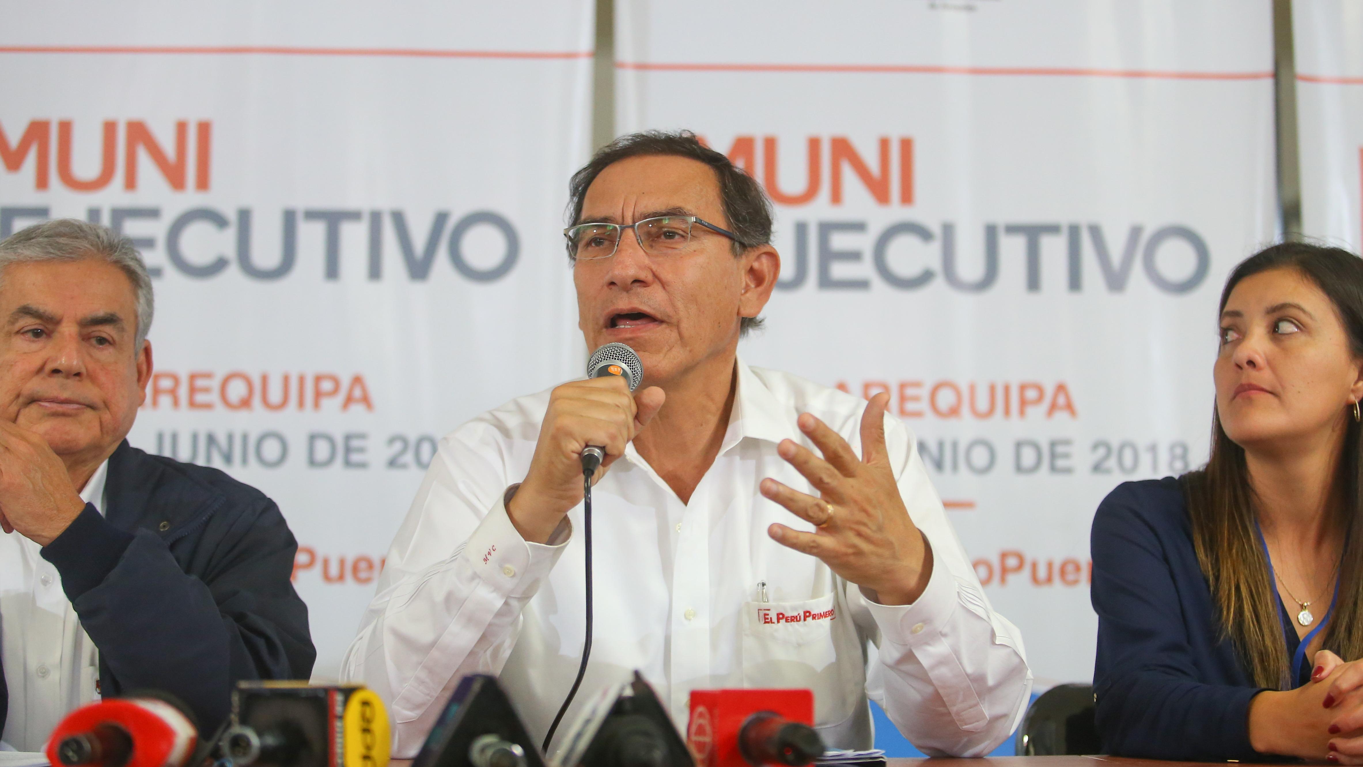 El presidente Martín Vizcarra visitó este viernes la región Arequipa.