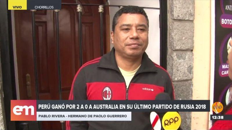 RPP Noticias conversó con Pablo Rivera, hermano de Paolo Guerrero.