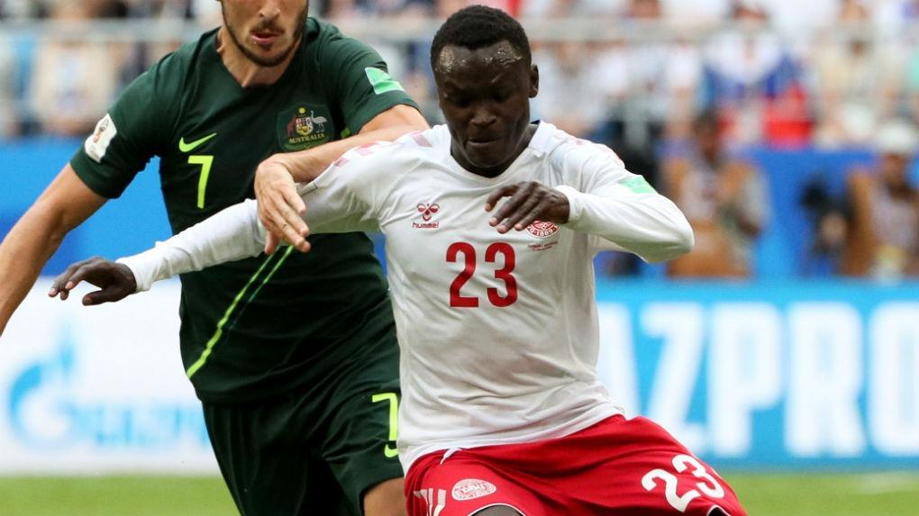 Pione Sisto fue titular en los 3 partidos de Dinamarca en Rusia 2018.
