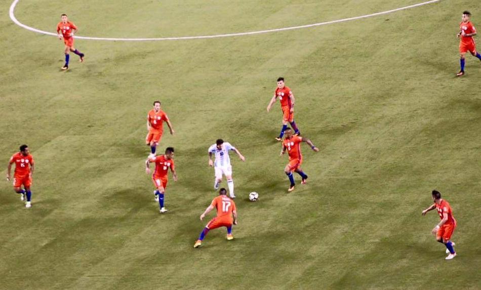 Lionel Messi también protagonizó una fantástica imagen en la Copa América Centenario.