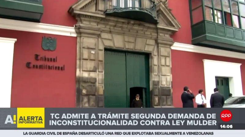 El Tribunal Constitucional admitió a trámite una segunda demanda de inconstitucionalidad contra la 'Ley Mulder'.