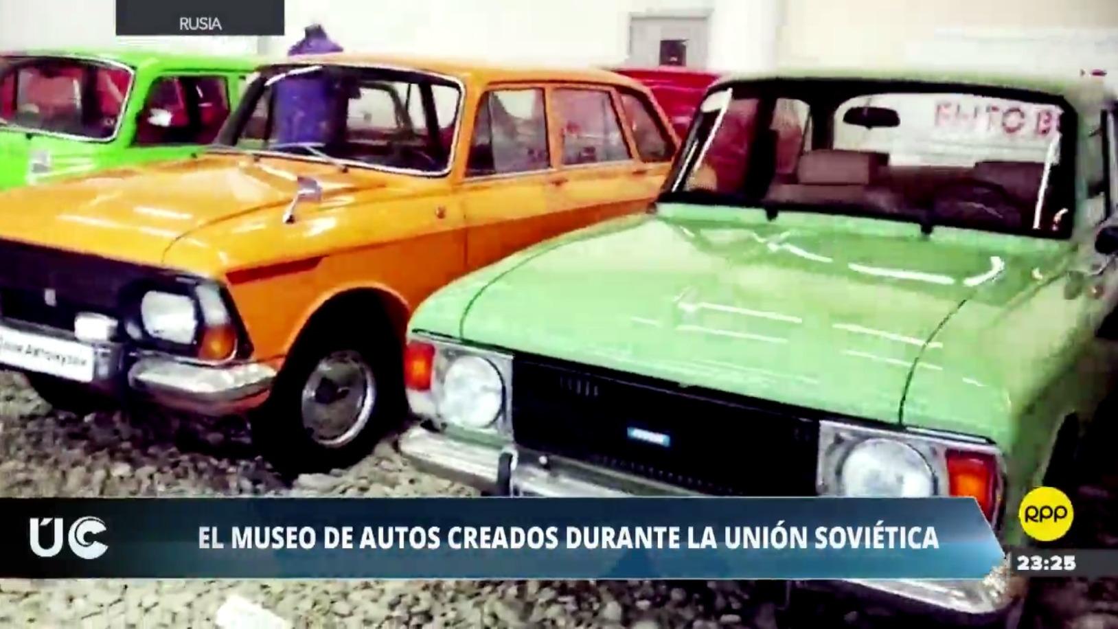 El museo ruso de autos fabricados durante la Unión Soviética.