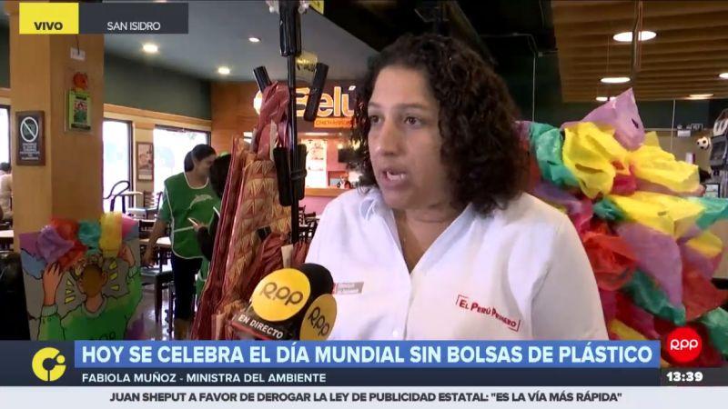 Fabiola Muñoz aseguró que el reto es llegar al Bicentenario siendo un país libre de plásticos de un solo uso.