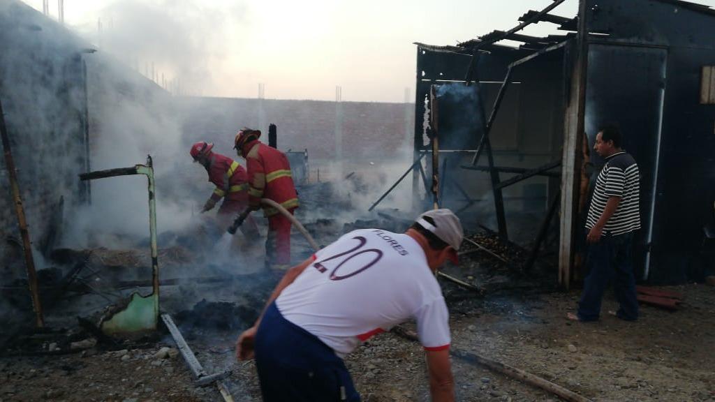 Las autoridades de Serenazgo no descartan que el incendio haya sido provocado por elementos del mal vivir de la zona.