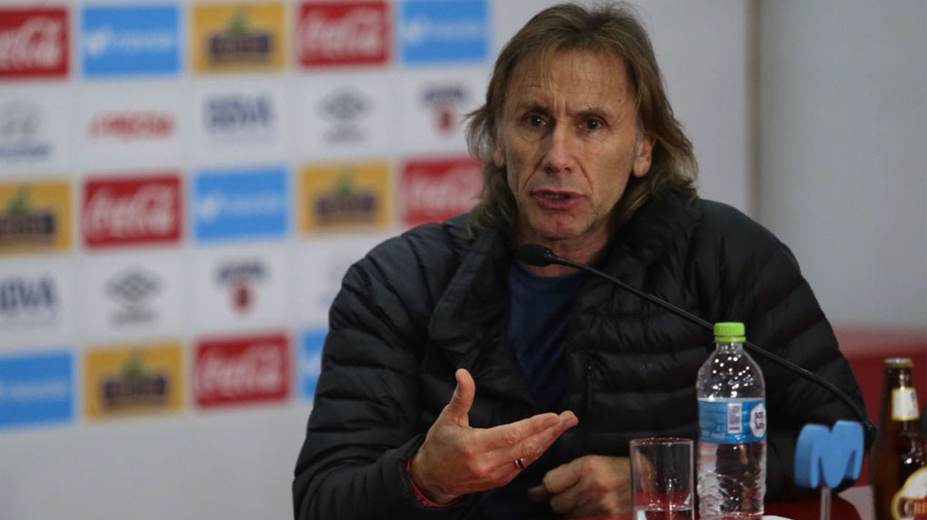 Ricardo Gareca habló este miércoles ante la prensa peruana.