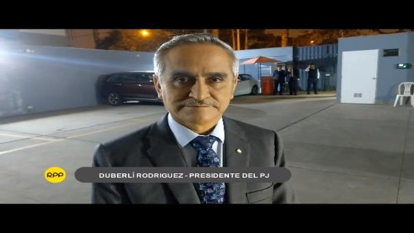 Duberlí Rodriguez es presidente del Poder Judicial desde enero de 2017.