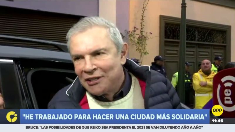 """""""Lo único que digo es he trabajado con mucho ahínco para hacer una ciudad mucho más humana"""", dijo el alcalde de Lima."""