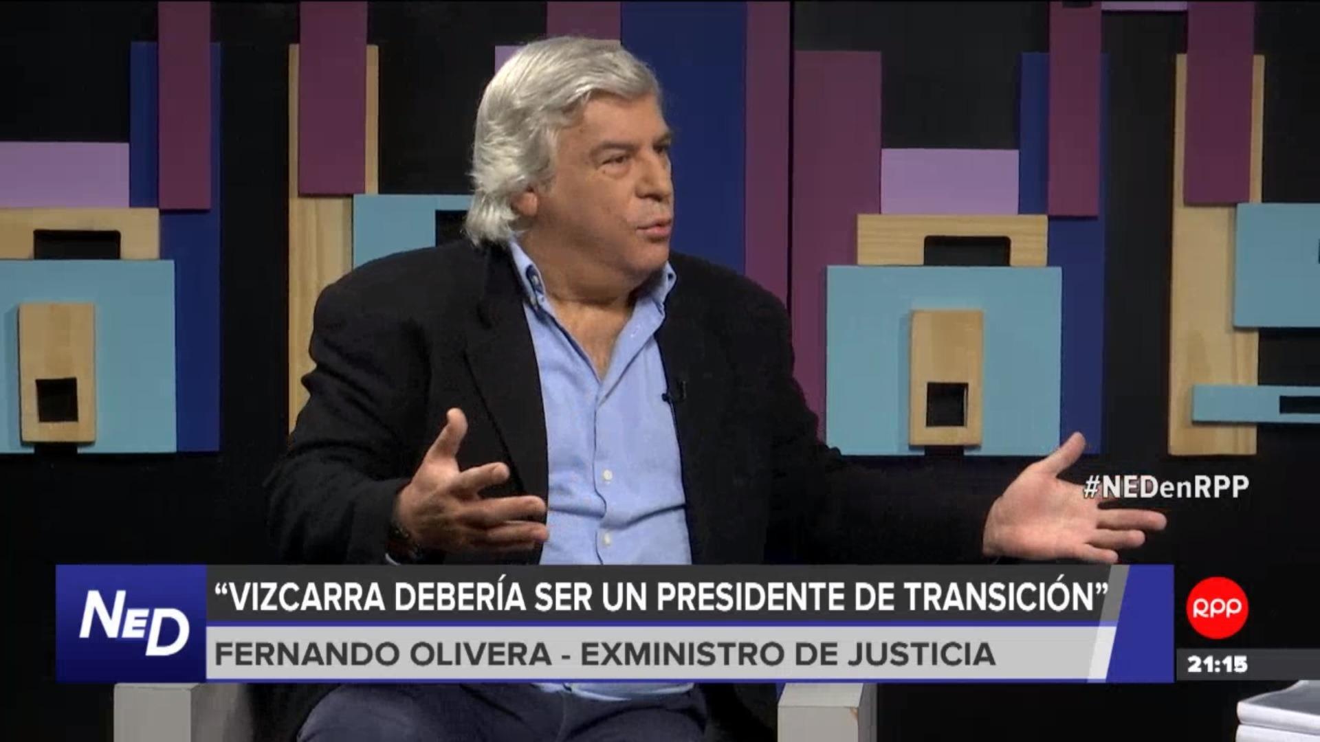 El exministro de Justicia también consideró que el presidente Vizcarra solo debía tener el cargo de forma transitoria.