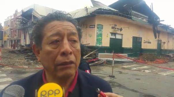Funcionario municipal, Mario Falero.