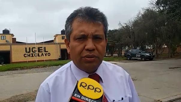 Director de la Ugel Chiclayo, Darío Balcázar