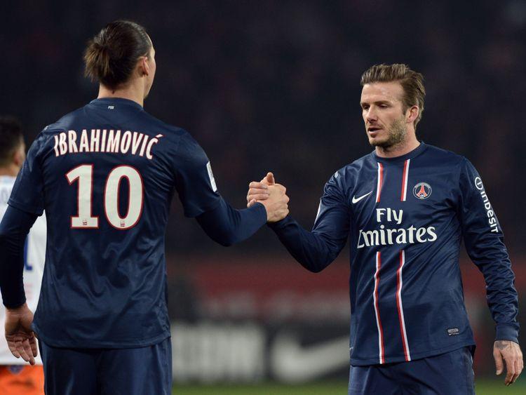 David Beckham y Zlatan Ibrahimovic jugaron juntos en el PSG en la temporada 2012/2013.