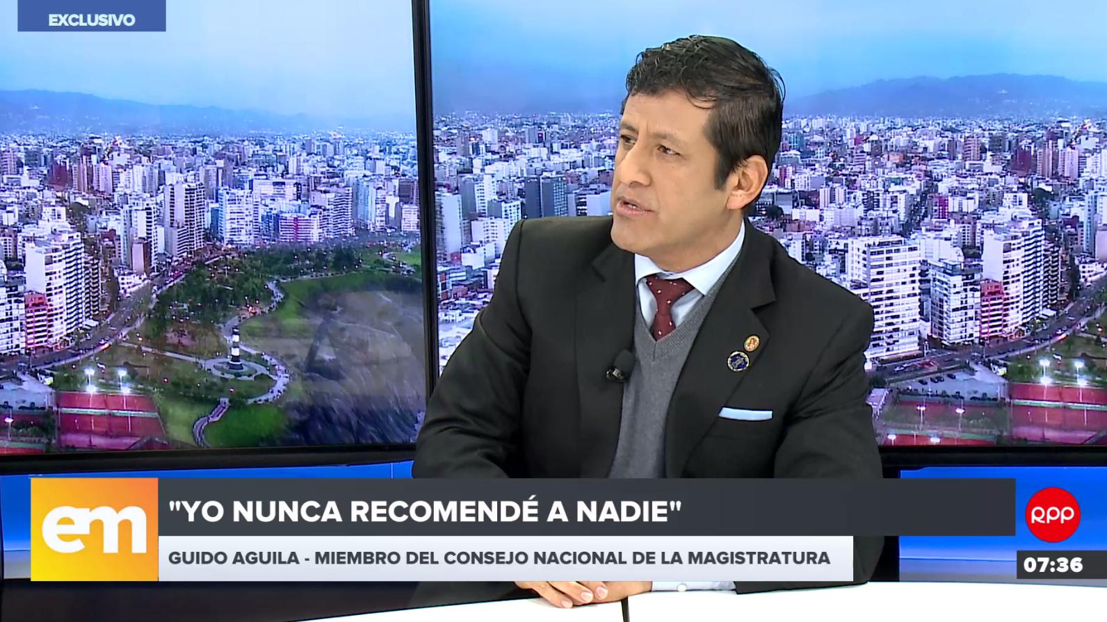 Guido Aguila, miembro del Consejo Nacional dela Magistratura, negó acusaciones en su contra.
