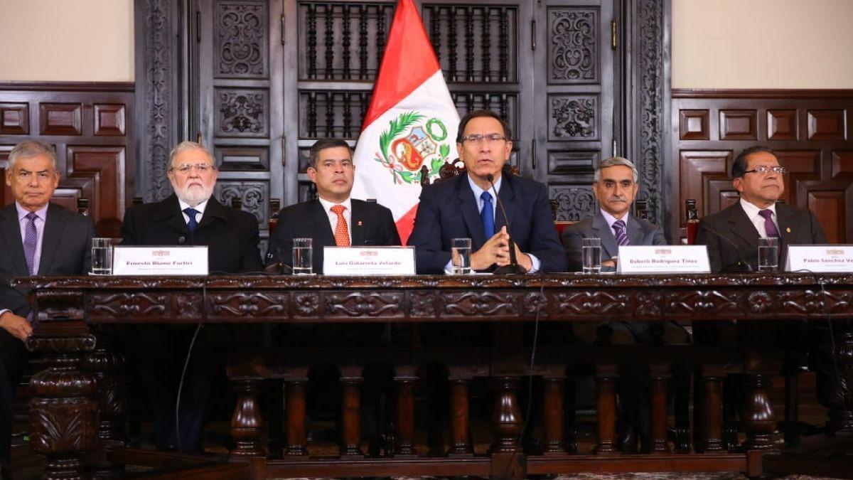 Martín Vizcarra declaró luego de la reunión del Consejo de Estado, la primera de su presidencia.