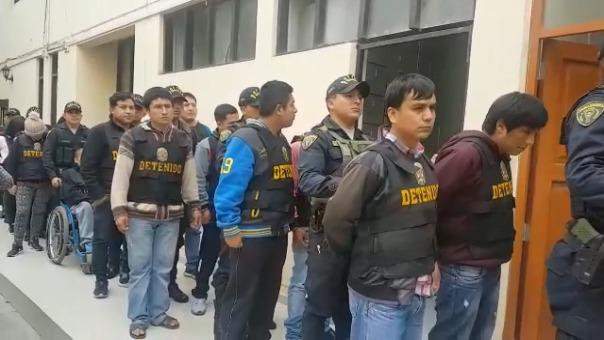 Presuntos delincuentes fueron conducidos a la Divincri de San Andrés.