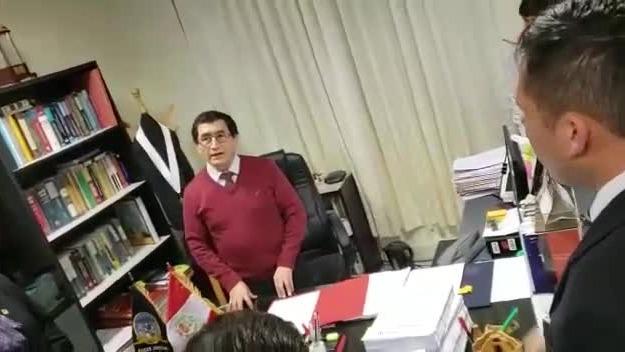 El video de la reunión en la que el juez se dirigió a los trabajadores judiciales.
