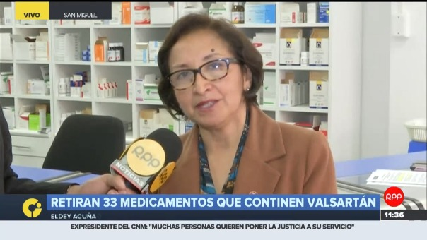 Retiran 33 medicamentos que contienen valsartán