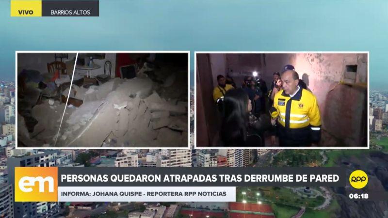 Este incidente ocurrió en una quinta de la calle Desaguadero, en la zona de Barrios Altos.